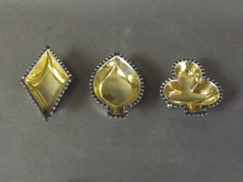 A set of four Victorian silver gilt salts