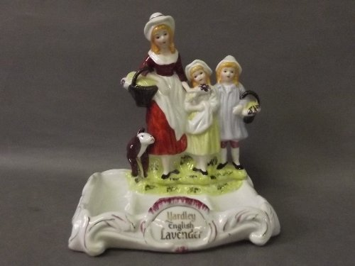 A Yardley English lavender soap dish depicting a mother