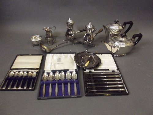 A Hallmarked silver jug and bowl etc, 276g, and a