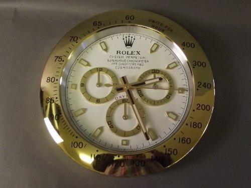 A Rolex display wall clock, 13'' diameter