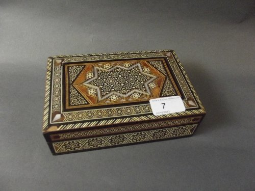 An inlaid box with Mother of Pearl decoration using