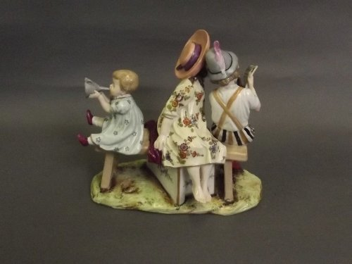 A fine C18th Frankenthal porcelain figure group
