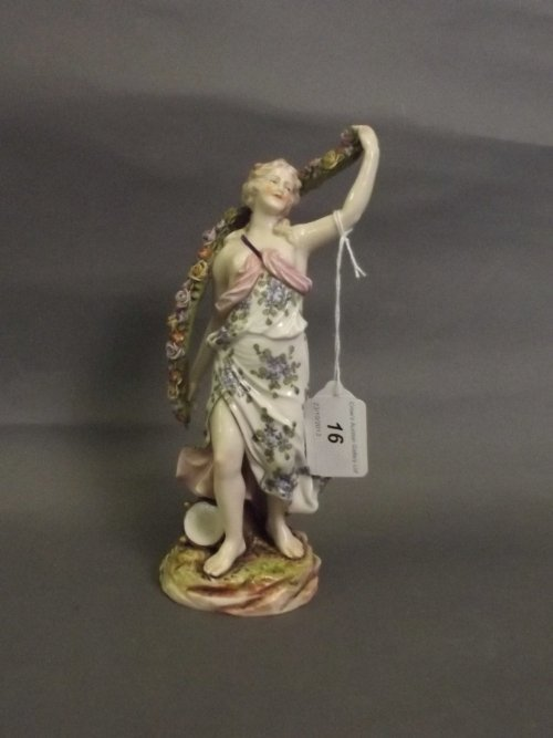 A late C18th/early C19th Naples porcelain figure of a
