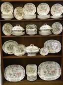 An extensive C19th English dinner service decorated wit