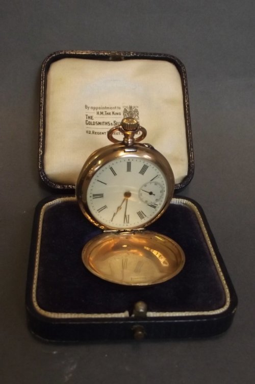 A 14ct rose gold pocket watch, marked 583, 1¼'' diamete
