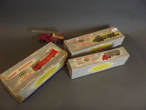 A Corgi 'Chipperfields Circus' truck, a boxed Dinky