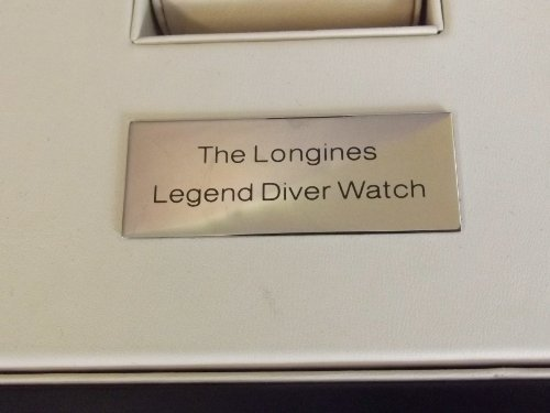 A Longines Legend Diver Watch collector's box with - 4