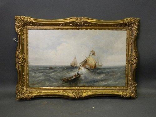 James Webb R.A. (1825-1895), oil on canvas, seascape
