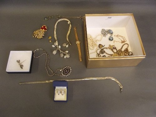 A quantity of jewellery to include lady's Longines