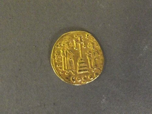 An early Byzantine gold coin, 4g