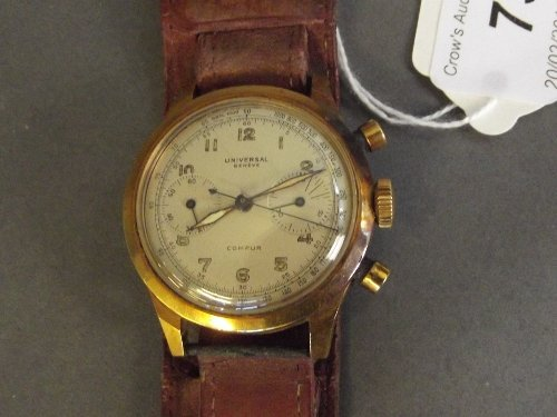 A gentleman's 18ct gold Universal Compur Geneve
