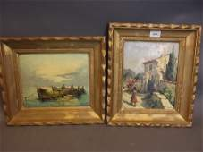 Tranco a pair of early C20th French impressionist oil