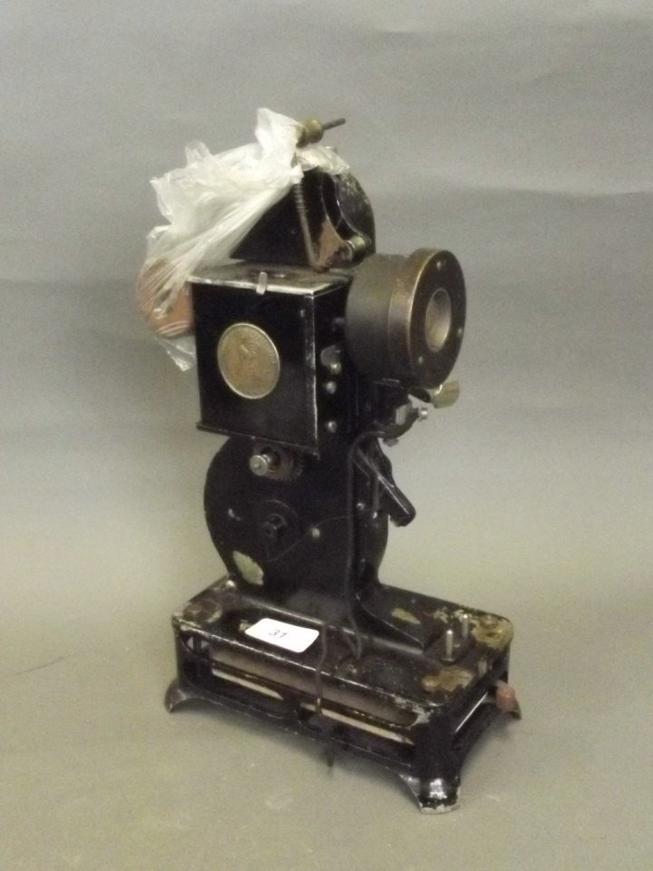 A 'Pathé Baby' 9.5mm film projector, 13'' high, Best