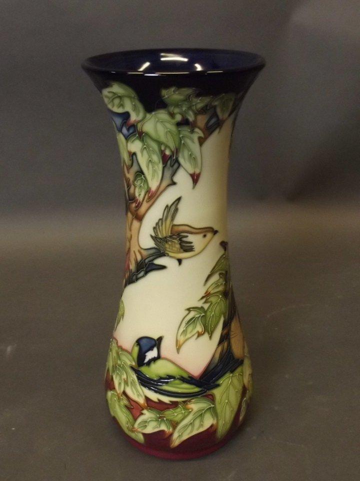 A Moorcroft pottery Inglewood pattern vase decorated - 3