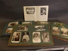 A postcard album containing late C19th and early C20th