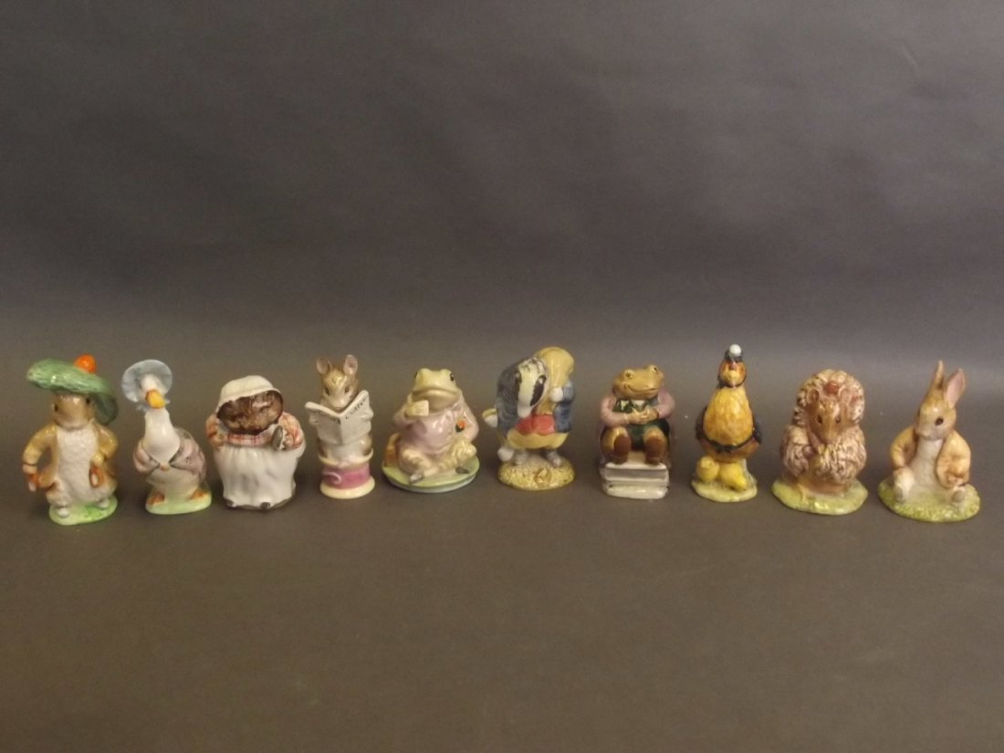 A collection of ten Beswick Beatrix Potter figurines to