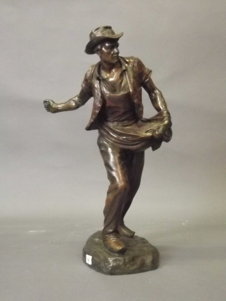 A late C19th/early C20th bronze figure after H.
