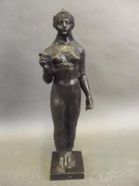 A Finely Detailed Regency Style Bronze Figure Of A