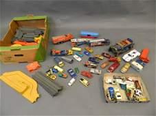 A quantity of Dinky, Corgi, and Matchbox cars including
