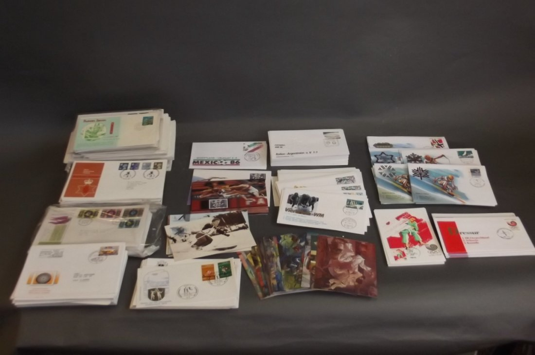 A large collection of First Day covers commemorating