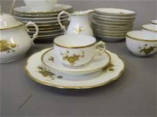 A Danish KPM twelve piece porcelain coffee set with