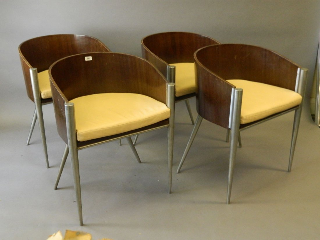 A set of four Philippe Starck design Costes chairs
