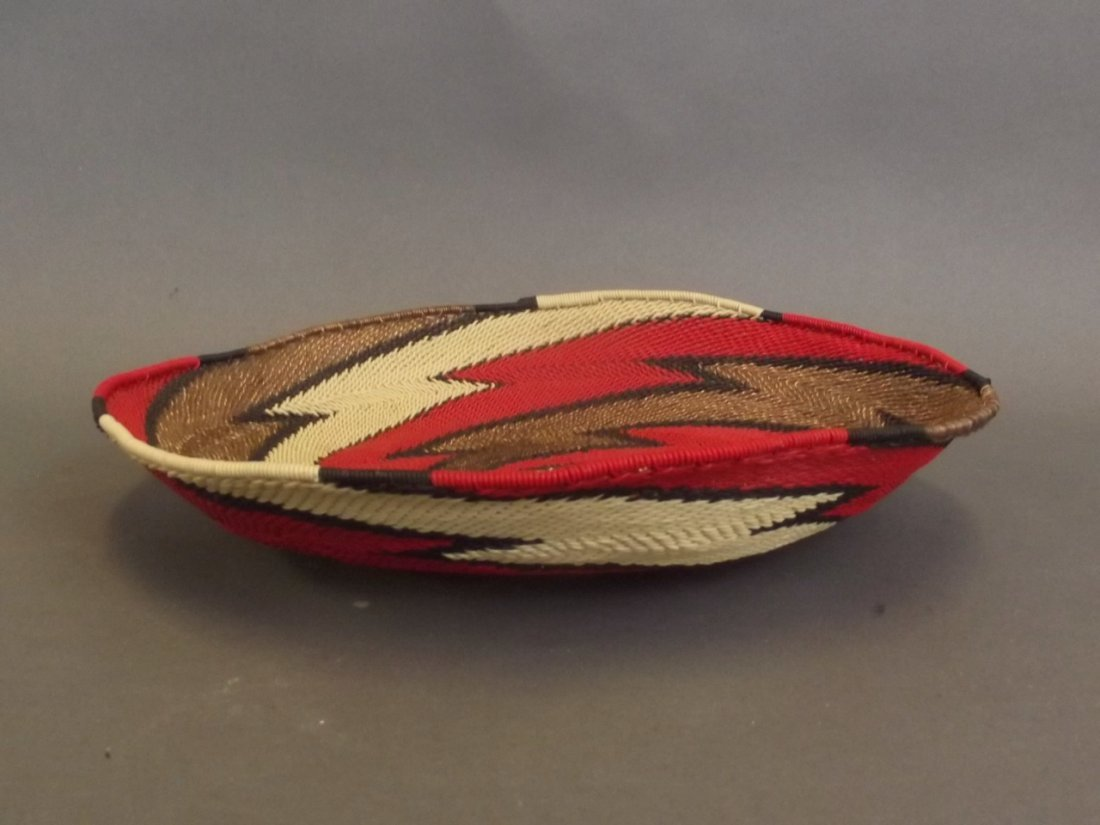 A Native American Haida tribe wire woven basket, 10""