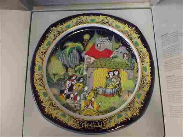 A Rosenthal Christmas plate 'Christmas Carols on