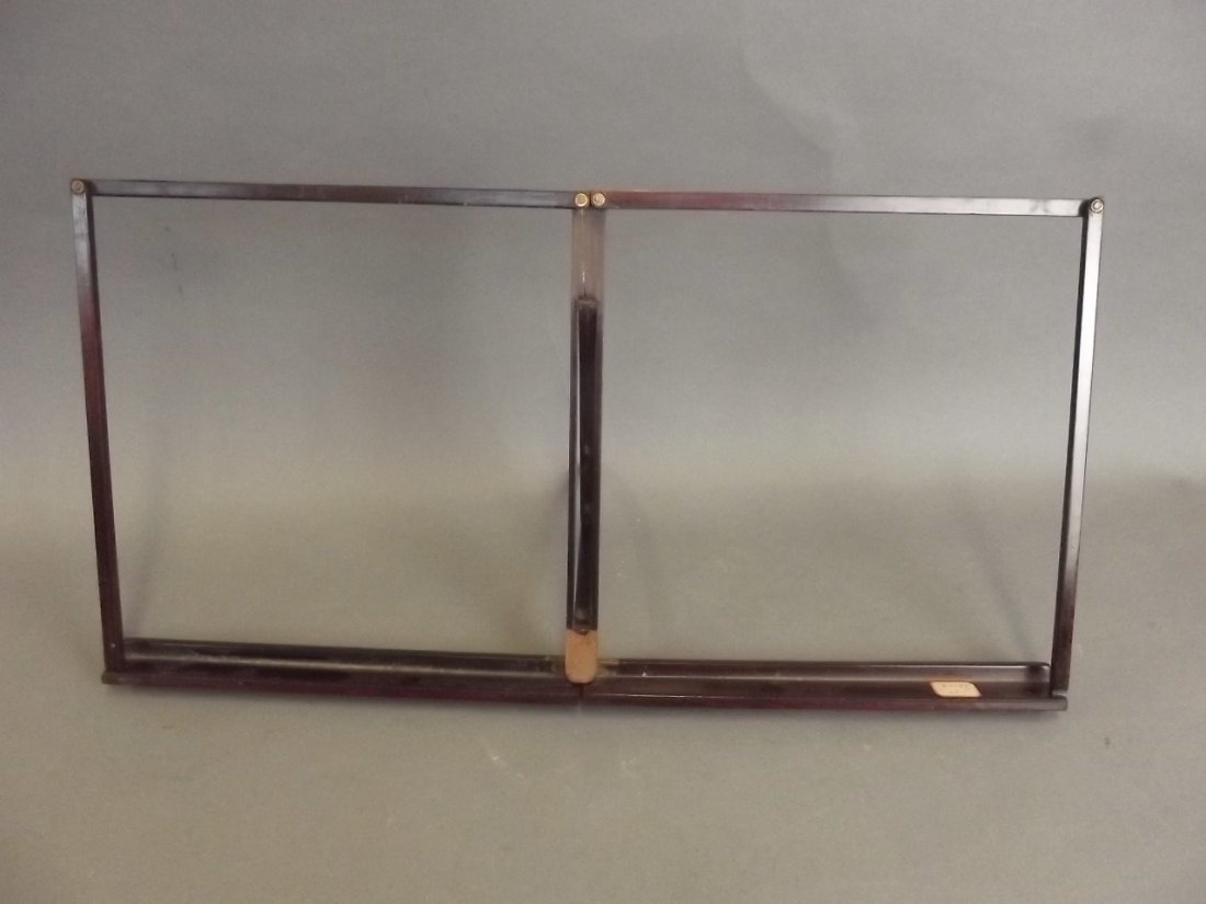 "A Chinese hardwood folding reading stand, 20"" x 10"""