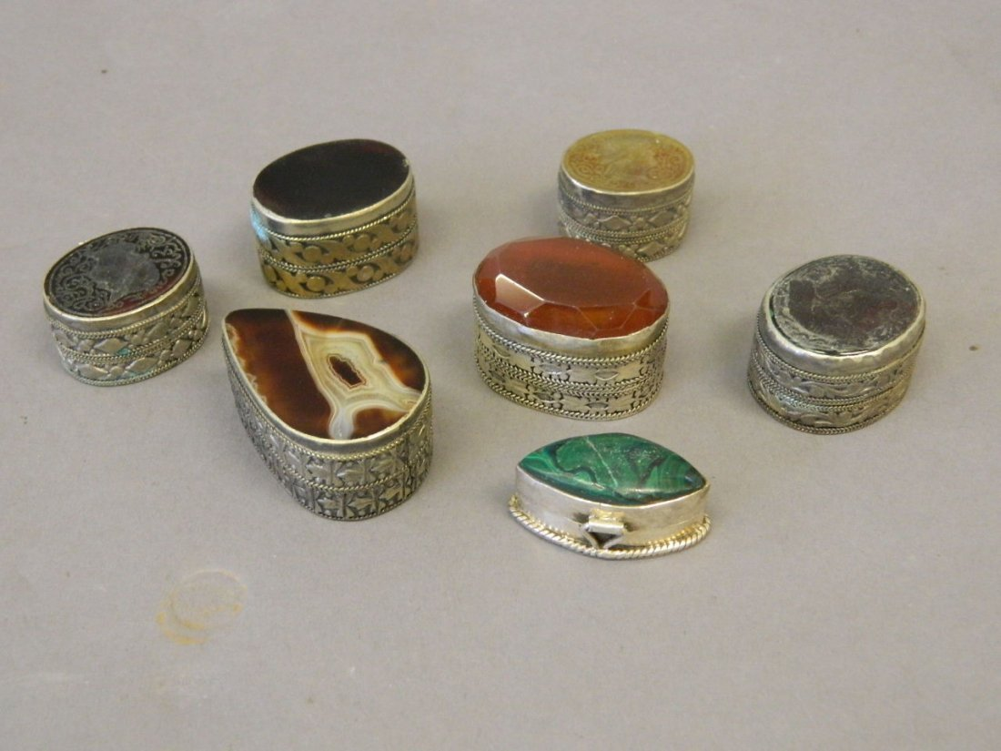 A collection of seven Middle Eastern low grade silver