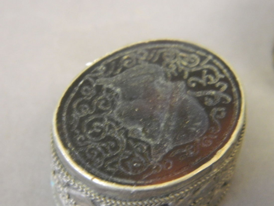 A collection of seven Middle Eastern low grade silver - 3