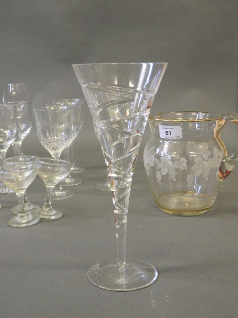 A large quantity of drinking glasses to include - 3