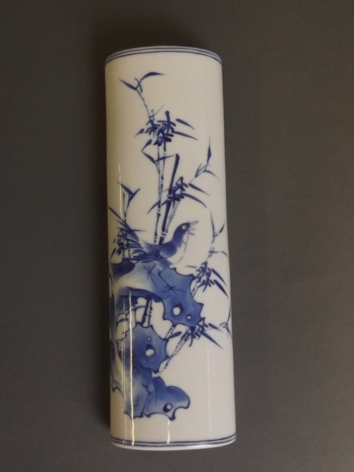 A Chinese blue and white porcelain wrist rest with - 2
