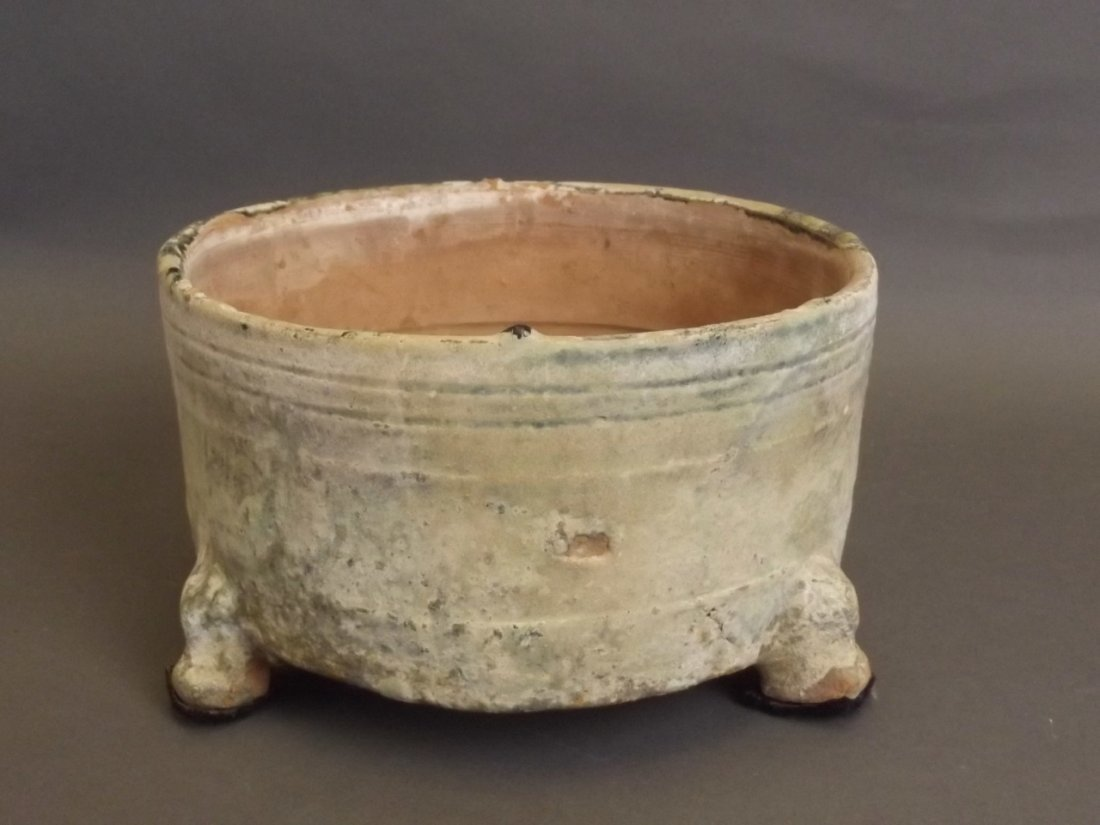 A Chinese Han dynasty green glazed pottery censer - 3