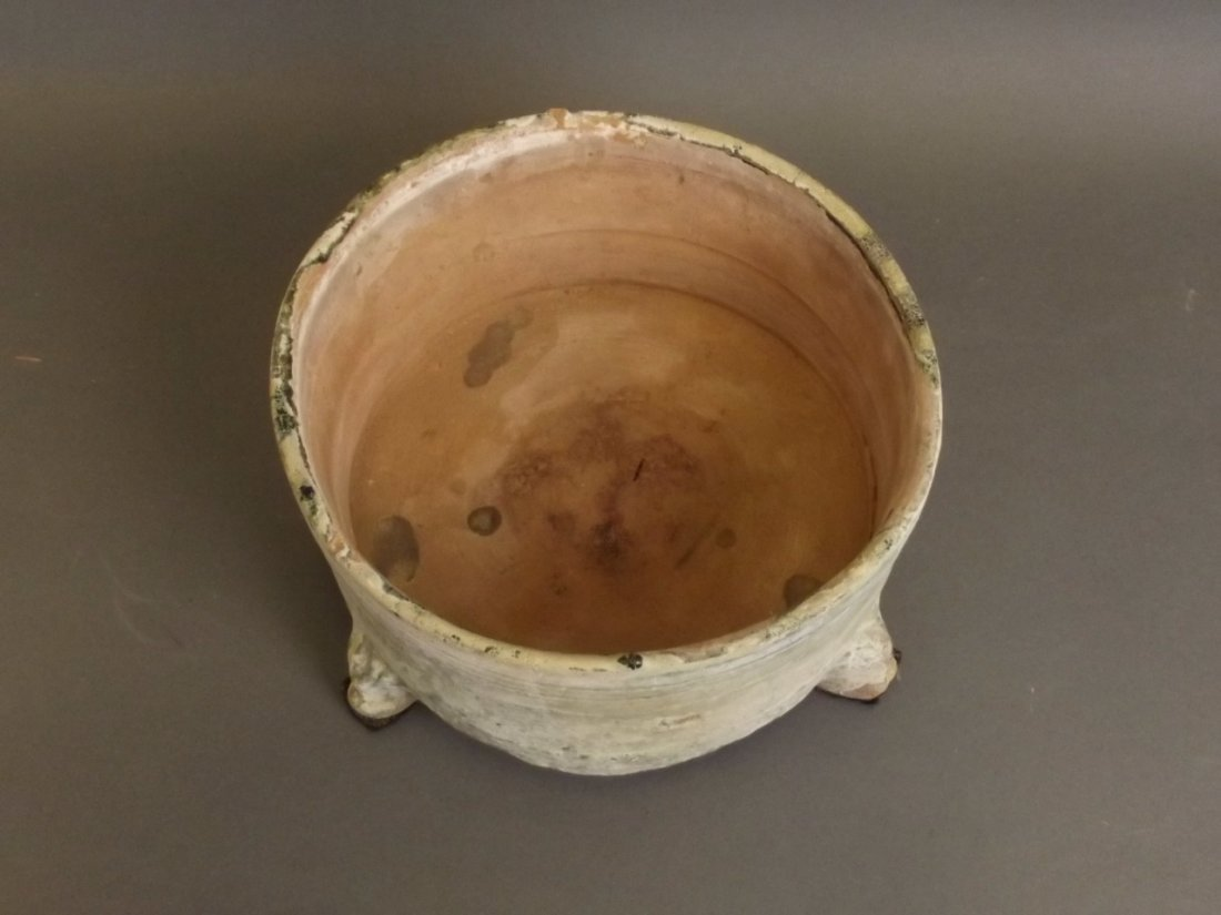 A Chinese Han dynasty green glazed pottery censer - 4