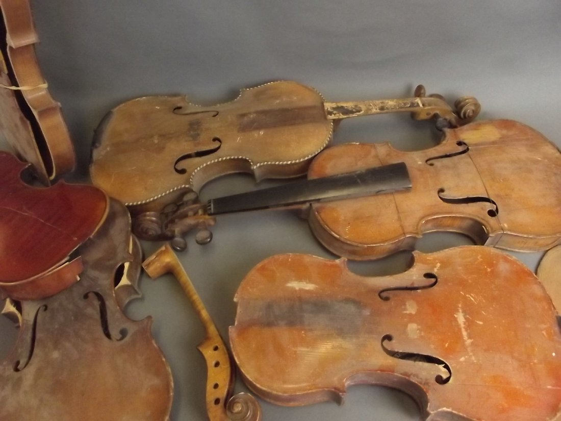 A quantity of early violins and parts, for restoration - 2