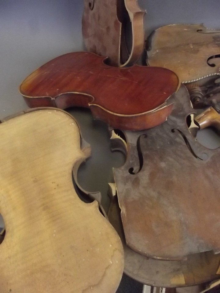 A quantity of early violins and parts, for restoration - 4