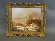 David Beatty, Continental oil on panel, winter