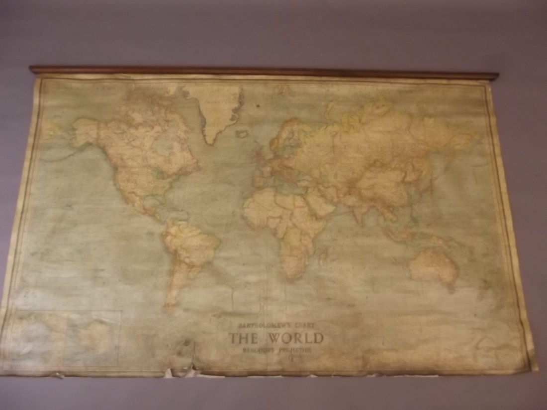 A large map of the world 'Bartholomew's chart of the