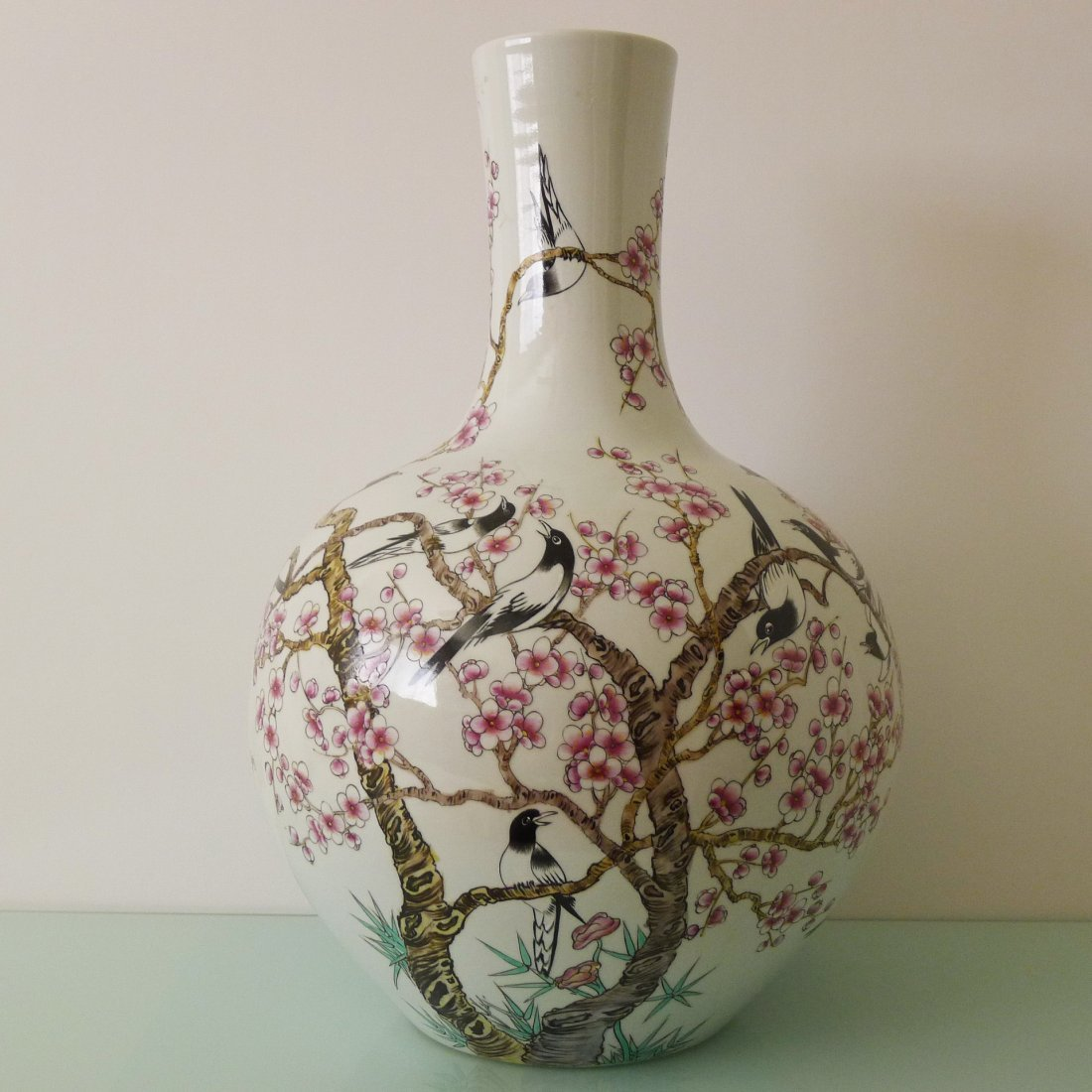 CHINESE FAMILLE ROSE CELESTIAL BALL BOTTLE