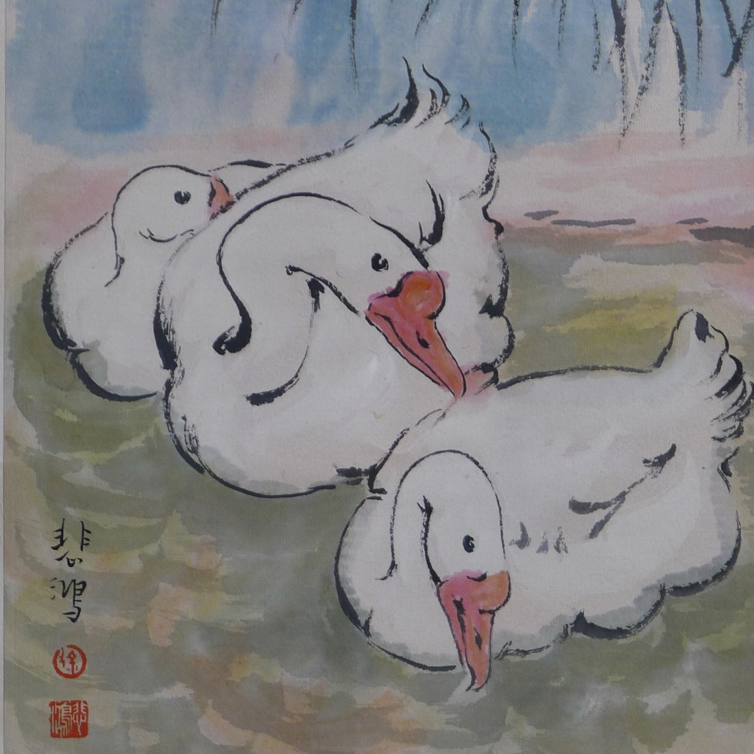 CHINESE SCROLL PAINTING BY XU BEIHONG