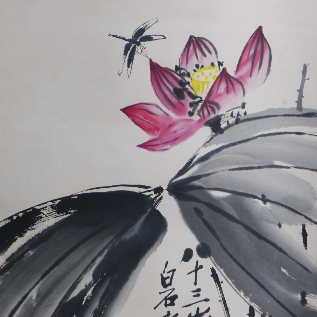 CHINESE SCROLL PAINTING BY QI BAISHI