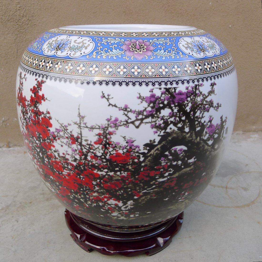 CHINESE FAMILLE ROSE BIG JAR