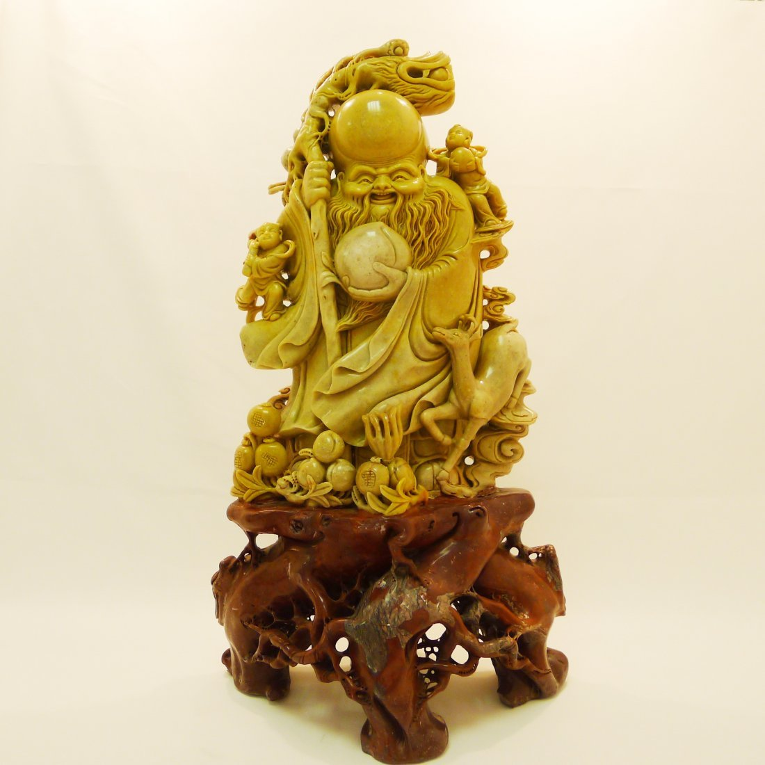 CHINESE QINGTIAN STONE CARVING DECORATION