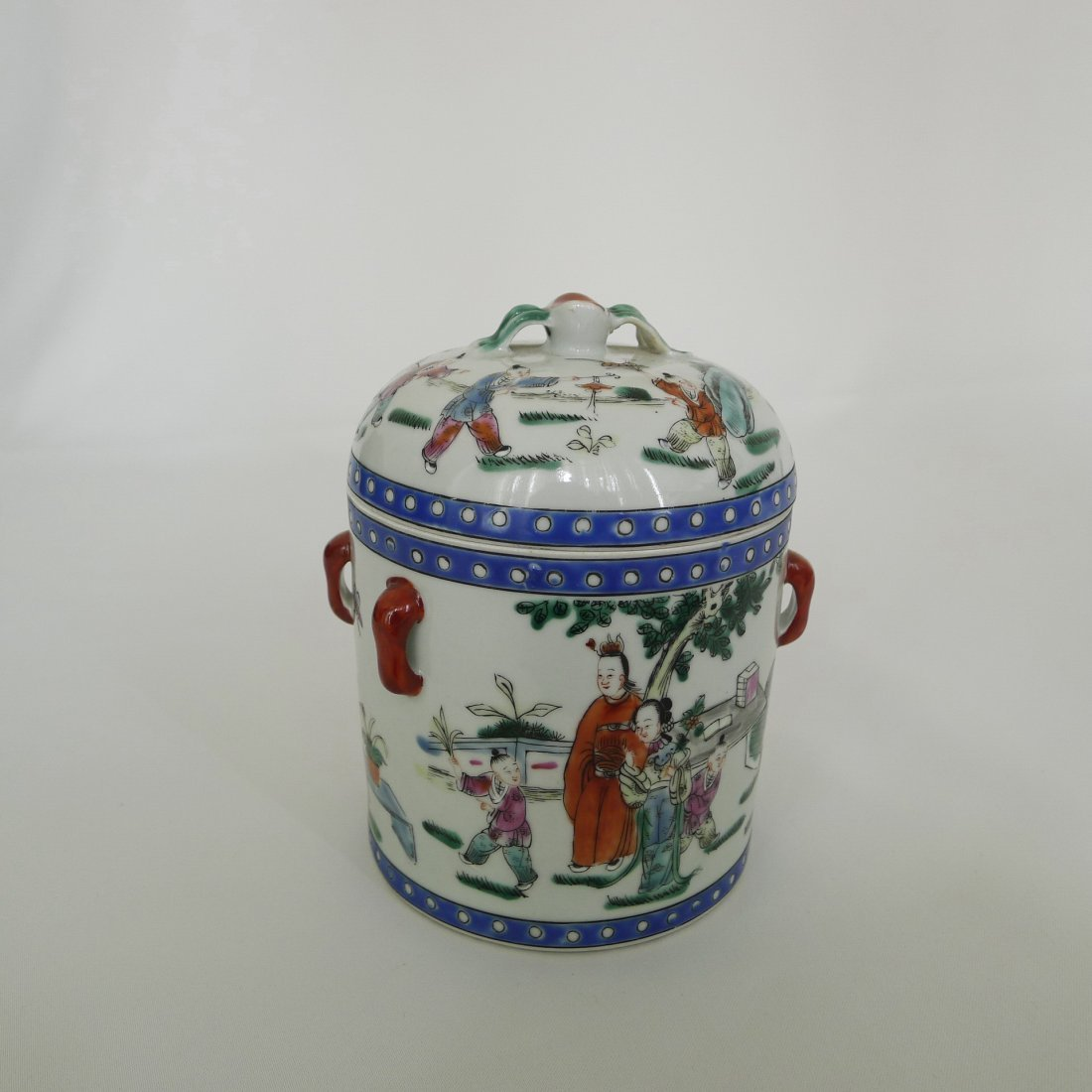 CHINESE FAMILLE ROSE FIGURE STORY JAR