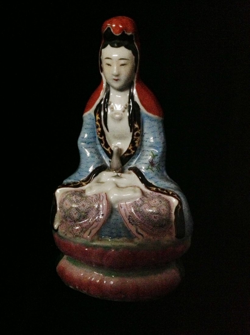 CHINESE REPUBLIC FAMILLE ROSE GUANYIN