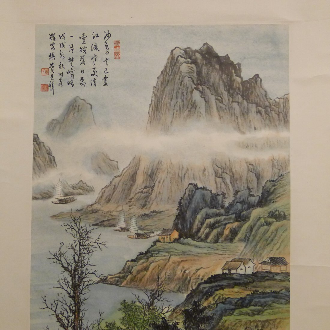 CHINESE SCROLL PAINTING BY HUANG CHUNPI