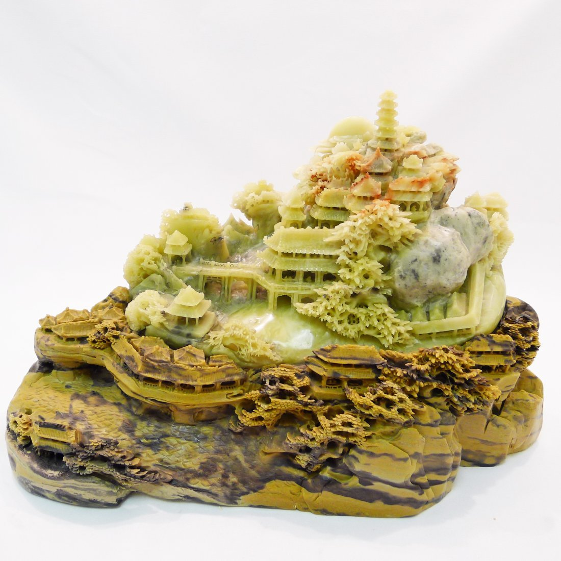 CHINESE QING TIAN STONE CARVING