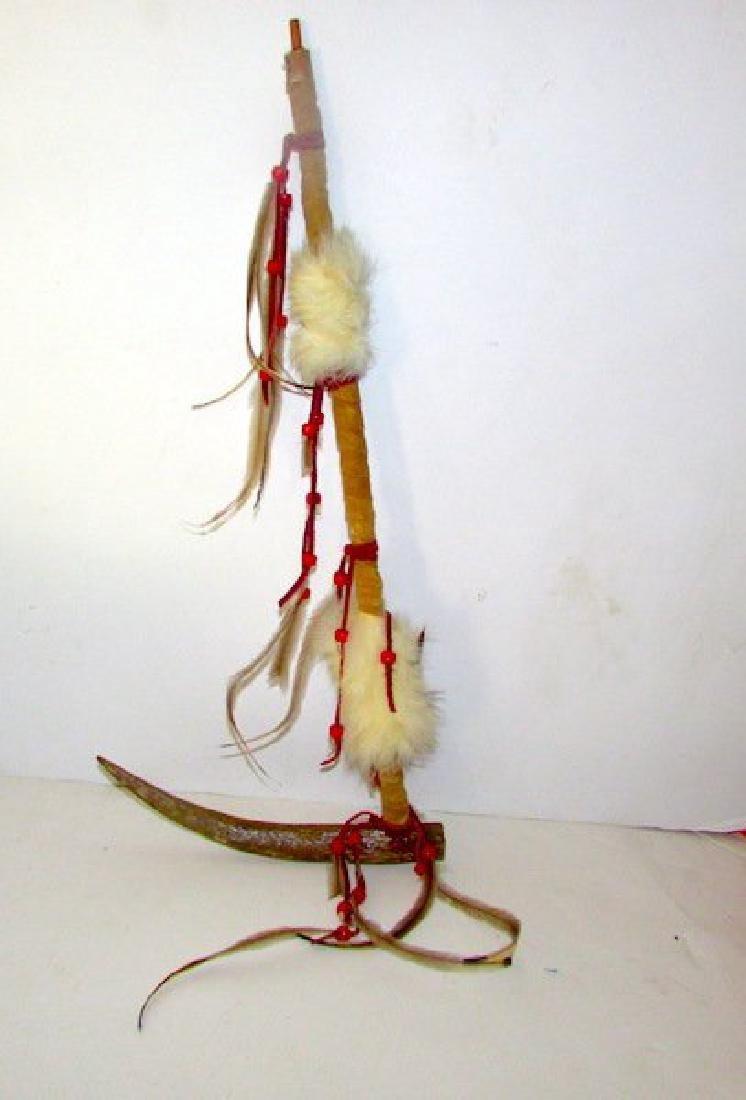 Vintage Native American Peace Pipe Artifact - 2