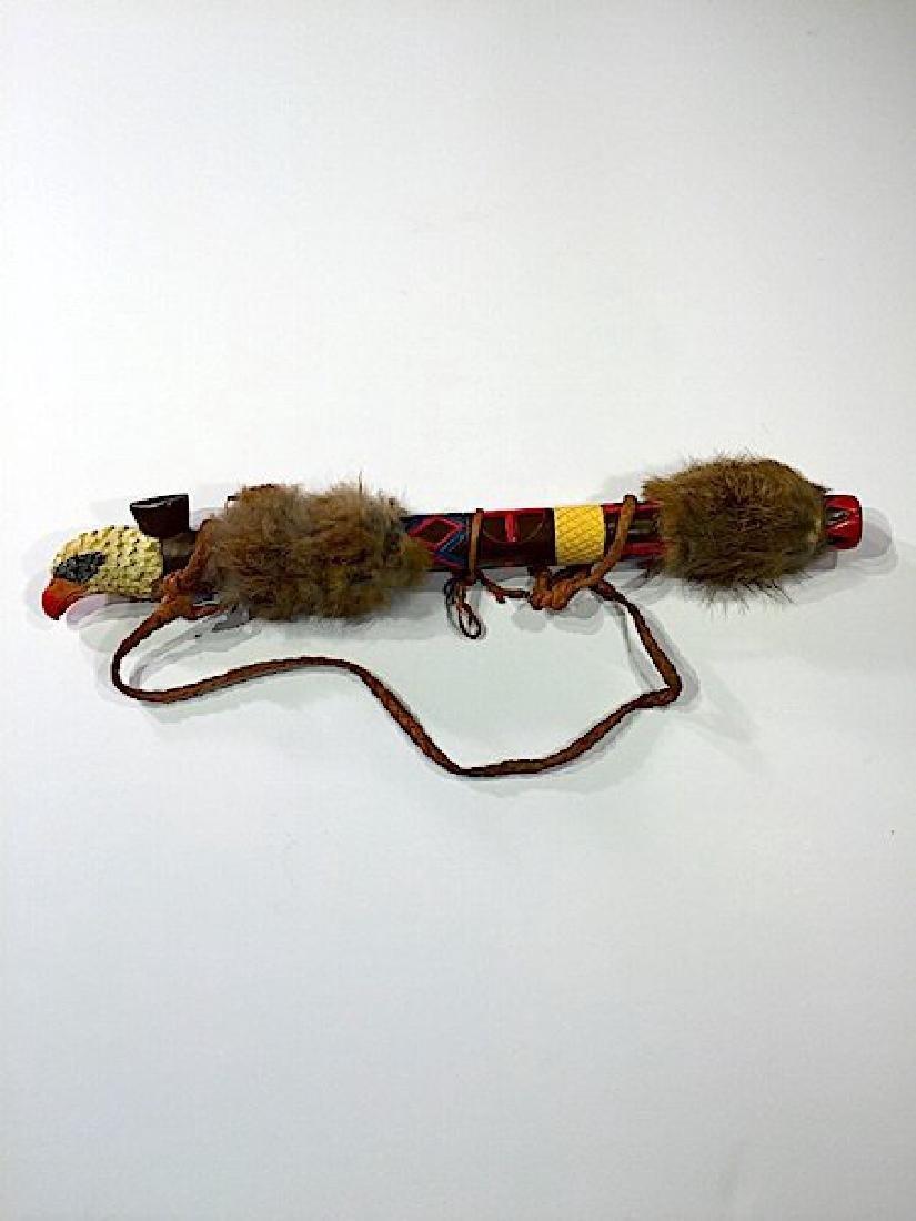 Vintage Native American Eagle Peace Pipe Artifact